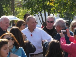 Sen. Chuck Schumer campaiging on Long Island in 2010.