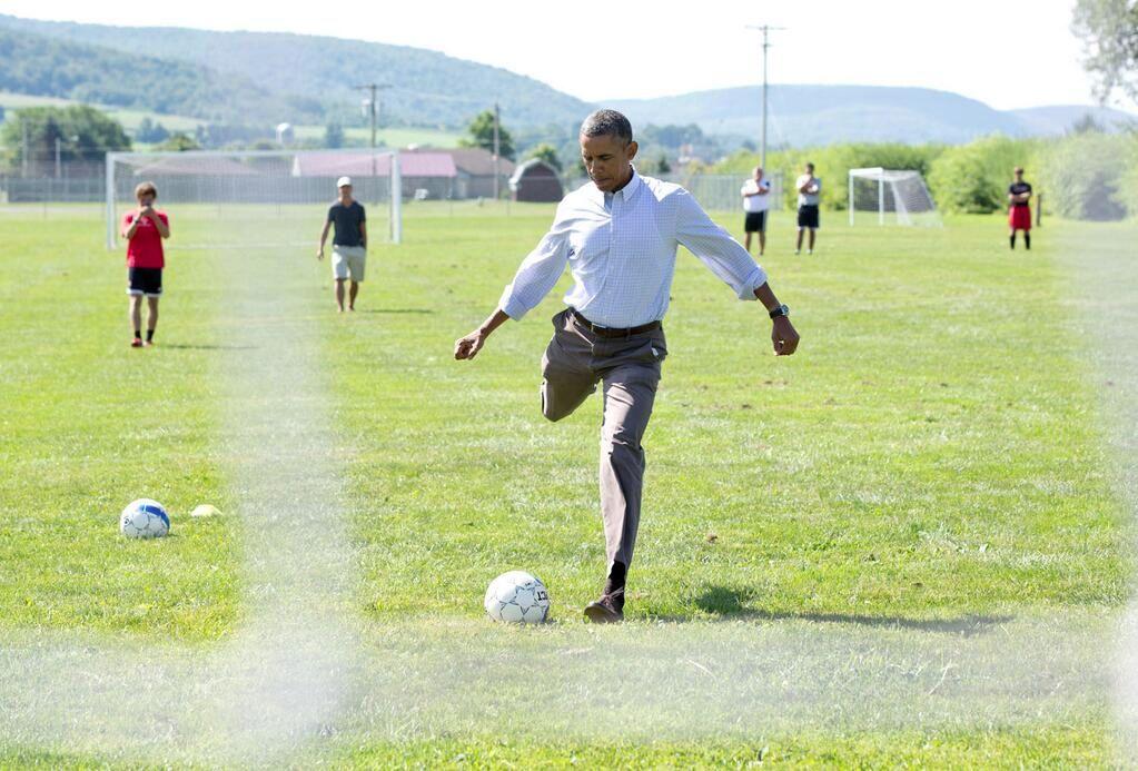 obama soccer