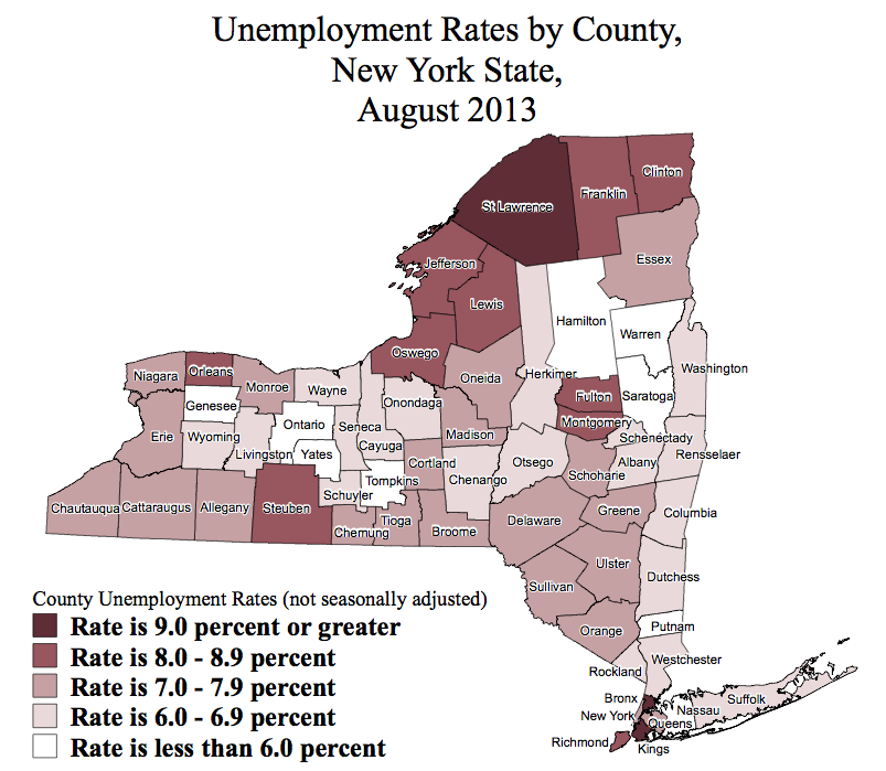 NY Unemployment by County