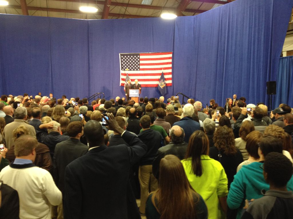 Former President Bill Clinton campaigns for Rep. Dan Maffei, D-Syracuse