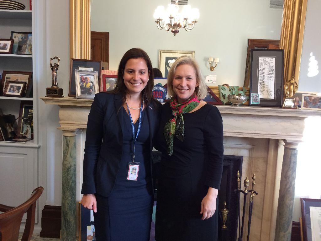 Rep.-elect Elise Stefanik, R-Wellsboro (left), with Sen. Kirsten Gillibrand, D-N.Y.