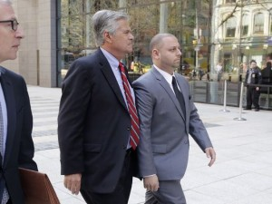 Dean and Adam Skelos. (Photo by Mark Lennihan/AP)