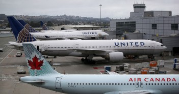 SAN FRANCISCO, CA - JULY 08:  United Airlines planes sit on the tarmac at San Francisco International Airport on July 8, 2015 in San Francisco, California. (Photo by Justin Sullivan/Getty Images)