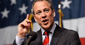 New York Attorney General-elect Eric Schneiderman gestures while giving his victory speech just past midnight on Wednesday, Nov. 3, 2010, in New York. (AP Photo/Frank Franklin II)           NYTCREDIT: Frank Franklin Ii/Associated Press