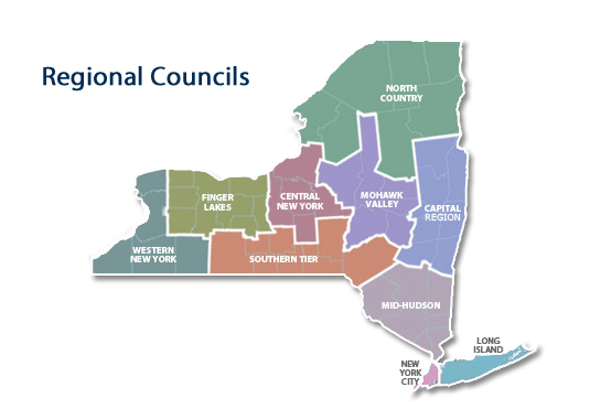 Regional Councils map